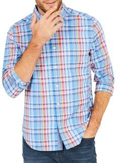 Nautica Classic-Fit Clear Plaid Stretch Button-Down Shirt