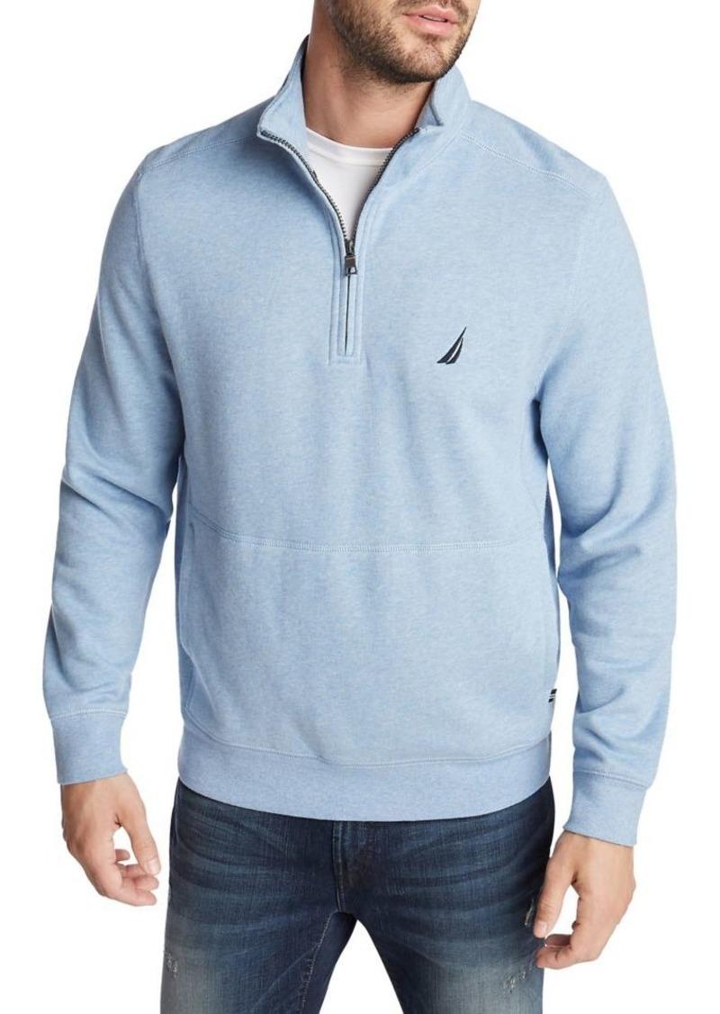 Nautica Classic-Fit Cotton-Blend Fleece Pullover