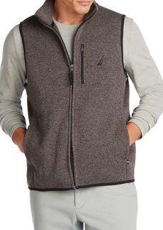 Nautica Classic-Fit Cotton-Blend Fleece Vest