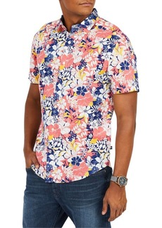 Nautica Classic-Fit Floral Button-Down Shirt