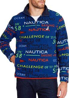 Nautica Classic Fit Half-Zip Placket Printed Pullover