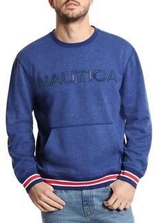Nautica Classic-Fit Logo Fleece Crewneck Pullover