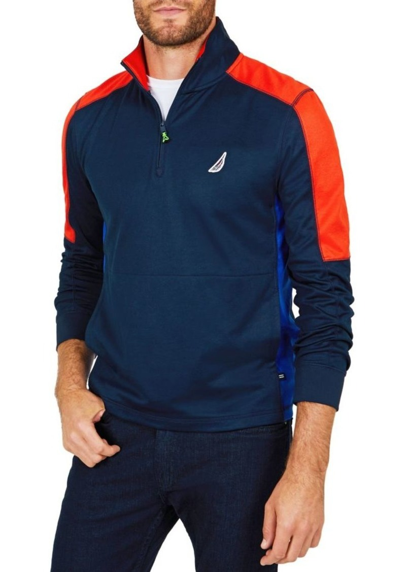 Nautica Classic Fit Long Sleeve Performance Polo