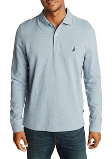 Nautica Classic-Fit Long-Sleeve Piqué Polo