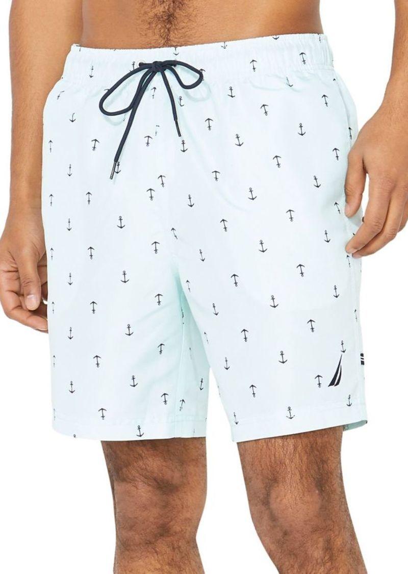 Nautica Classic-Fit Nautica Anchor-Print Swim Trunks