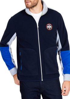 Nautica Classic Fit Pieced Full-Zip Sweater