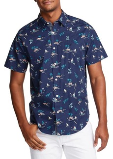 Nautica Classic-Fit Printed Button-Down Shirt