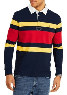 Nautica Classic Fit Rugby Stripe Polo Shirt