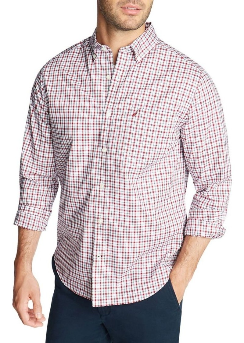 Nautica Classic-Fit Wrinkle-Resistant Plaid Shirt