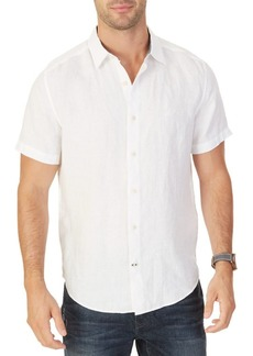 Nautica Classic-Fit Solid Linen Short-Sleeve Shirt