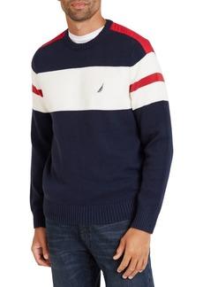 Nautica Crewneck Logo Cotton Sweater