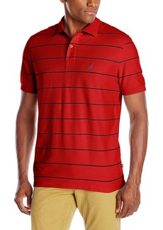 Nautica Men's Stripe Deck Anchor Polo