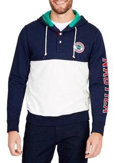 Nautica Fashion Blocked Logo Sleeve Hoodie