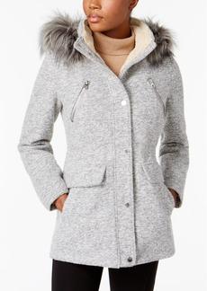 Nautica Faux-Fur-Trim Hooded Coat