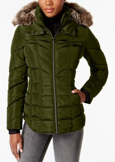 Nautica Faux-Fur-Trim Puffer Coat