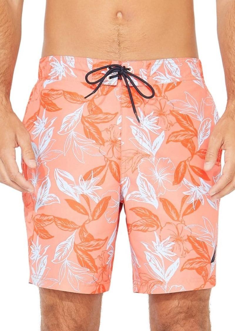 Nautica Floral Printed Swim Shorts