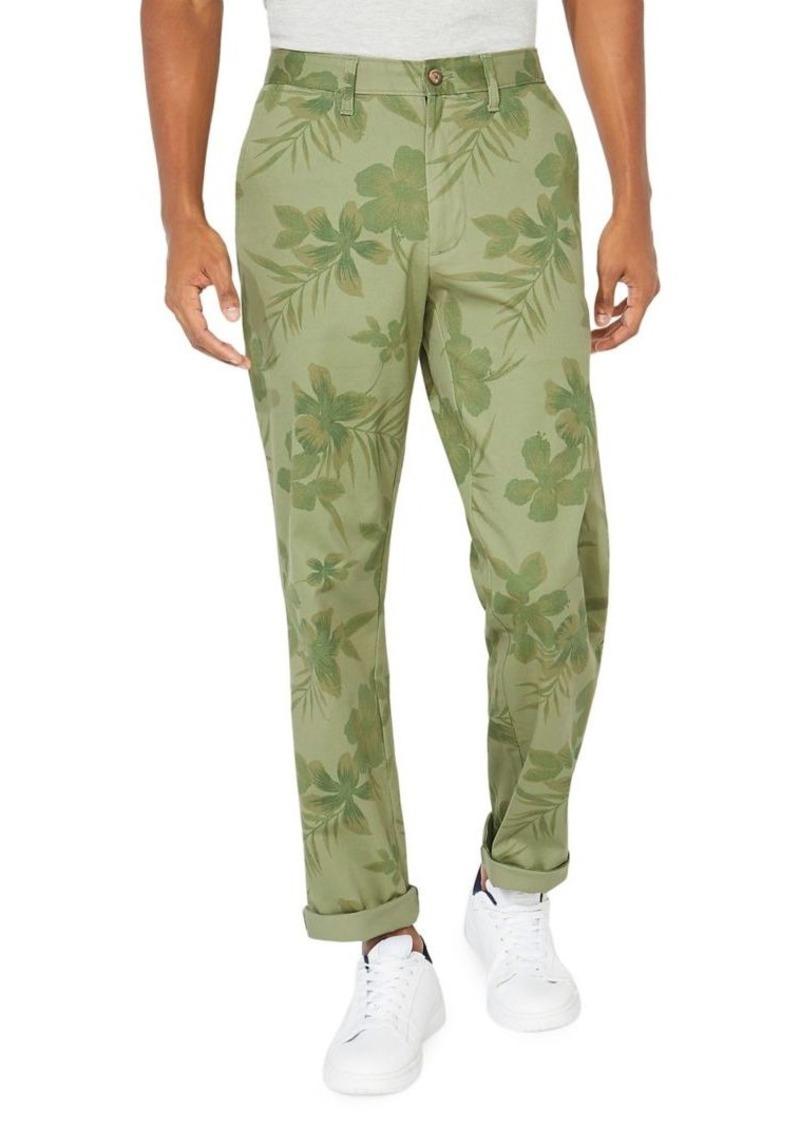 Nautica Floral Stretch-Cotton Pants