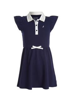 Nautica Flutter Sleeve Polo Dress