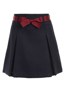 Nautica Girl's Belted Scooter Skirt