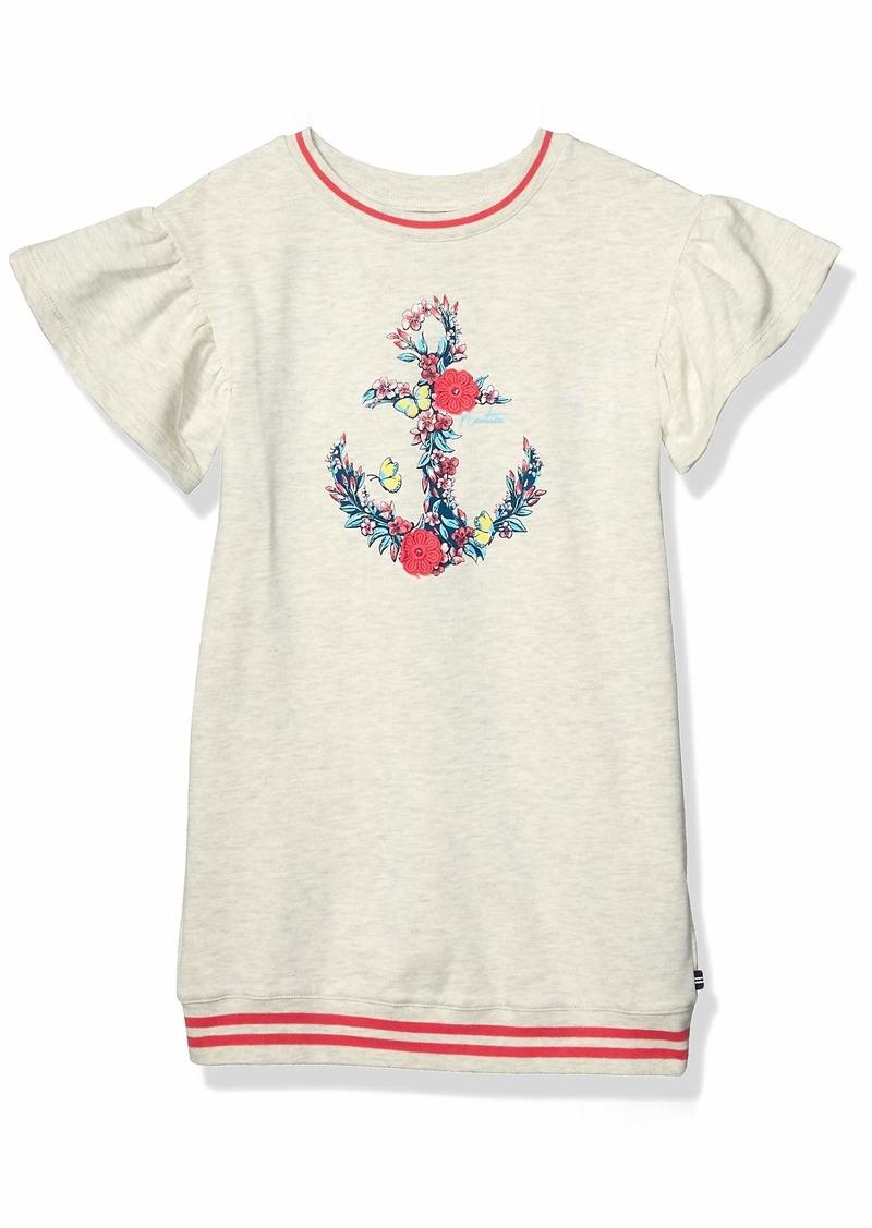 Nautica Girls' Little Anchor Sweater Dress Oatmeal