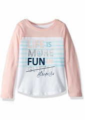 Nautica Girls' Little Long Sleeve Graphic Tee