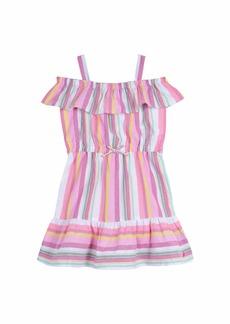Nautica Girls' Off Shoulder Fashion Dress oxford pink