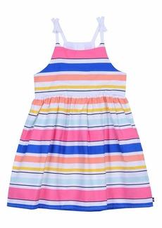 Nautica Girls' Spaghetti Strap Fashion Dress  multi stripe pink