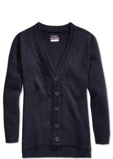 Nautica School Uniform Cable-Knit Boyfriend Cardigan, Big Girls