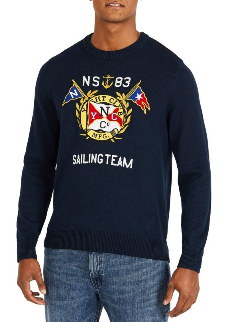 Nautica Nautica Graphic Crewneck Sweater Now 5376