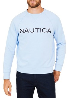 Nautica Graphic Fleece Crewneck Long-Sleeve Tee