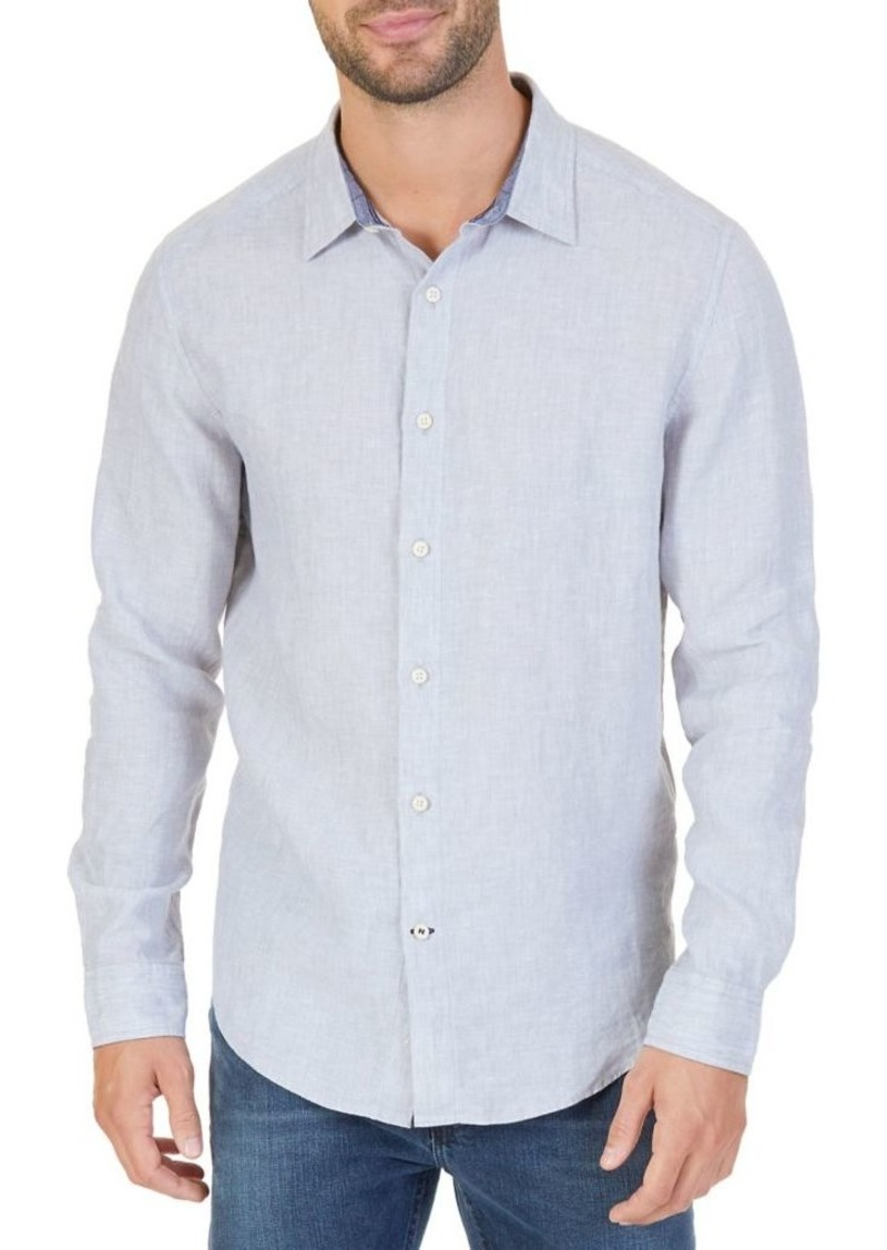 Nautica Heathered Linen Casual Shirt