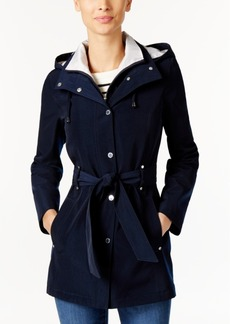 Nautica Hooded Belted Raincoat
