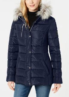 Nautica Hooded Faux-Fur-Trim Puffer Coat