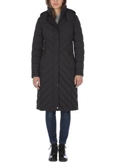 Nautica Hooded Stretch Maxi Puffer Coat