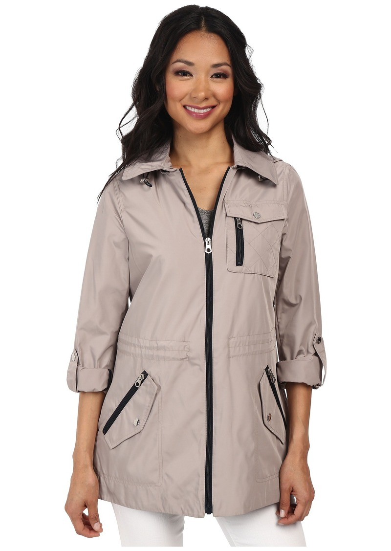 Nautica Hooded Mesh Lined Anorak Windbreaker Jacket
