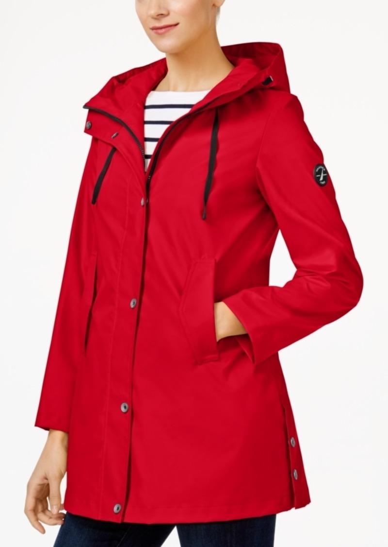 4b42a8cc2ce Nautica Nautica Hooded Water-Resistant A-Line Raincoat