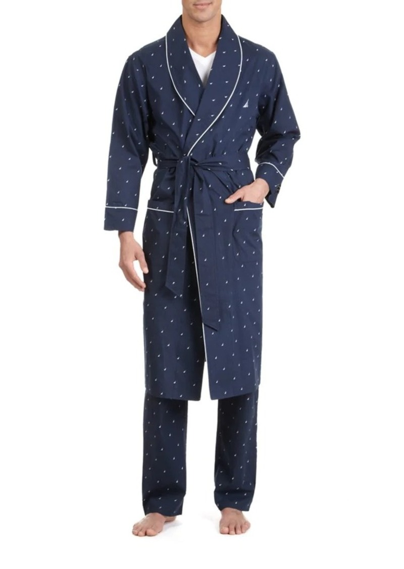 Nautica J-Class Woven Shawl Collar Robe