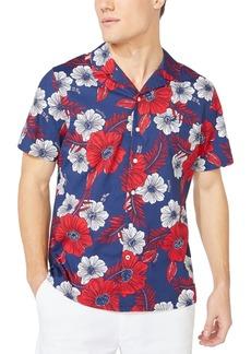Nautica Jeans Co. Men's Classic-Fit Stretch Floral-Print Camp Shirt