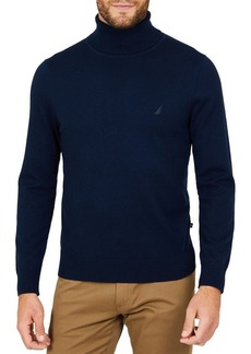 Nautica Jersey Turtleneck Sweater