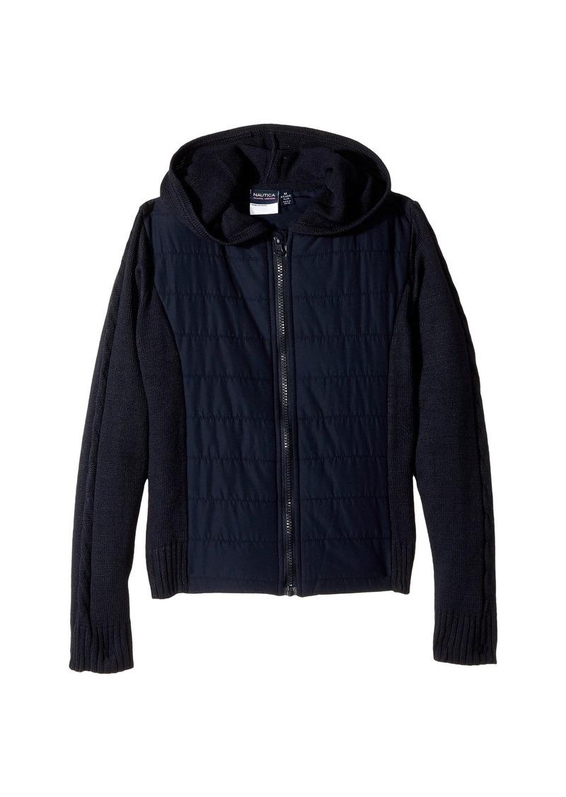 9eb52465 Nautica Girls Plus Quilted Hoodie Sweater (Big Kids) | Sweaters