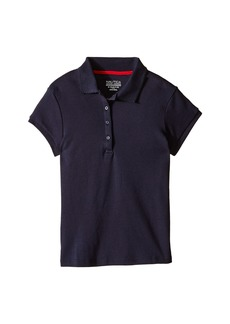 Nautica Girls Plus Short Sleeve Polo with Picot Stitch Collar (Big Kids)