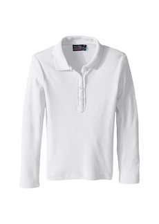 Nautica Long Sleeve Polo with Ruffle Placket (Little Kids)