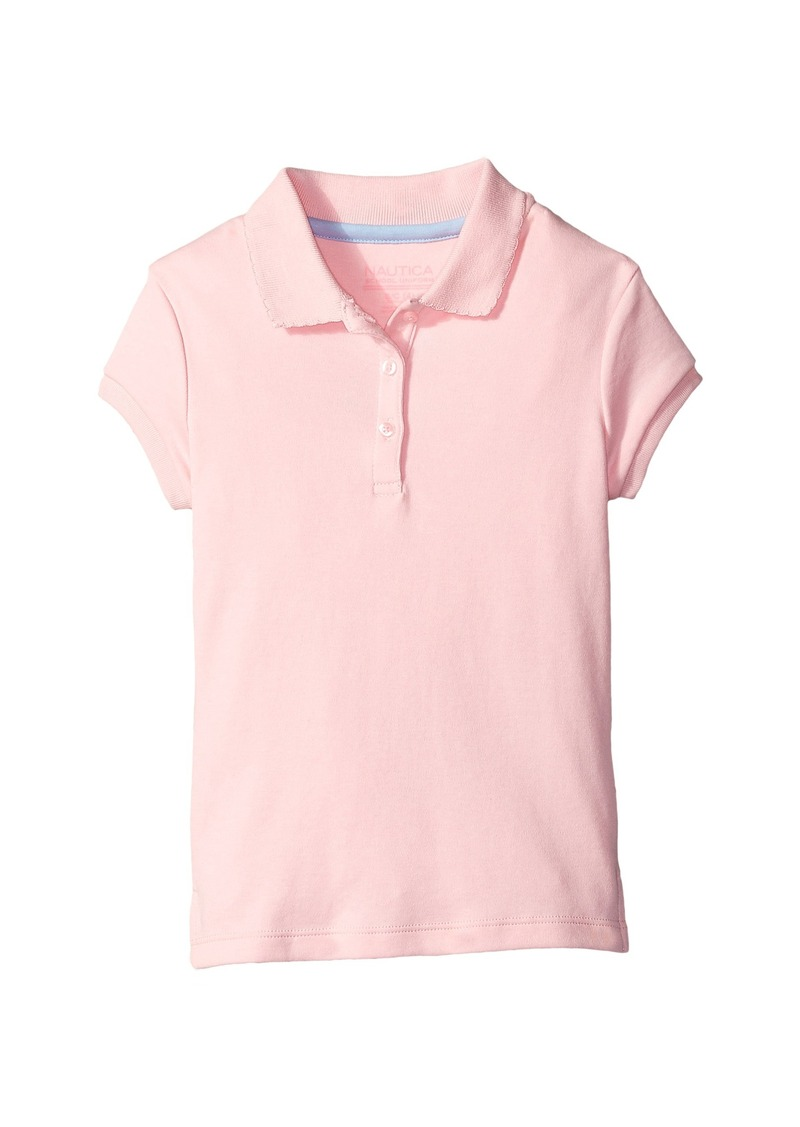 Nautica Kids Short Sleeve Polo with Picot Stitch Collar (Big Kids)