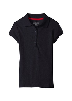 Nautica Short Sleeve Polo with Picot Stitch Collar (Little Kids)