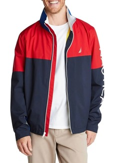 Nautica Lightweight Colorblock Parka