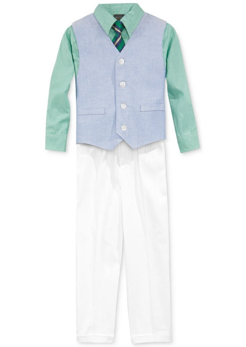 Nautica nautica little boys 39 4 piece solid oxford vest for Oxford shirt with tie