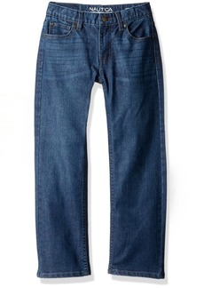 Nautica Little Boys' 5-Pocket Straight Fit Jeans Starboard-Stretch