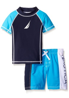 Nautica Little Boys Classic Rash Guard Swim Set Ocean