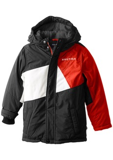 Nautica Little Boys' Colorblocked Snorkel Coat