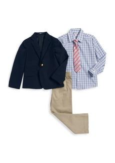 Nautica Little Boy's Four-Piece Jacket, Shirt, Tie and Pants Set